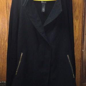 Lane Bryant Women's Black Coat with Pockets